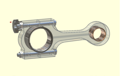image of connecting rod of piston compressor