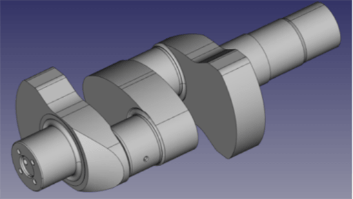 image of crankshaft of piston compressor